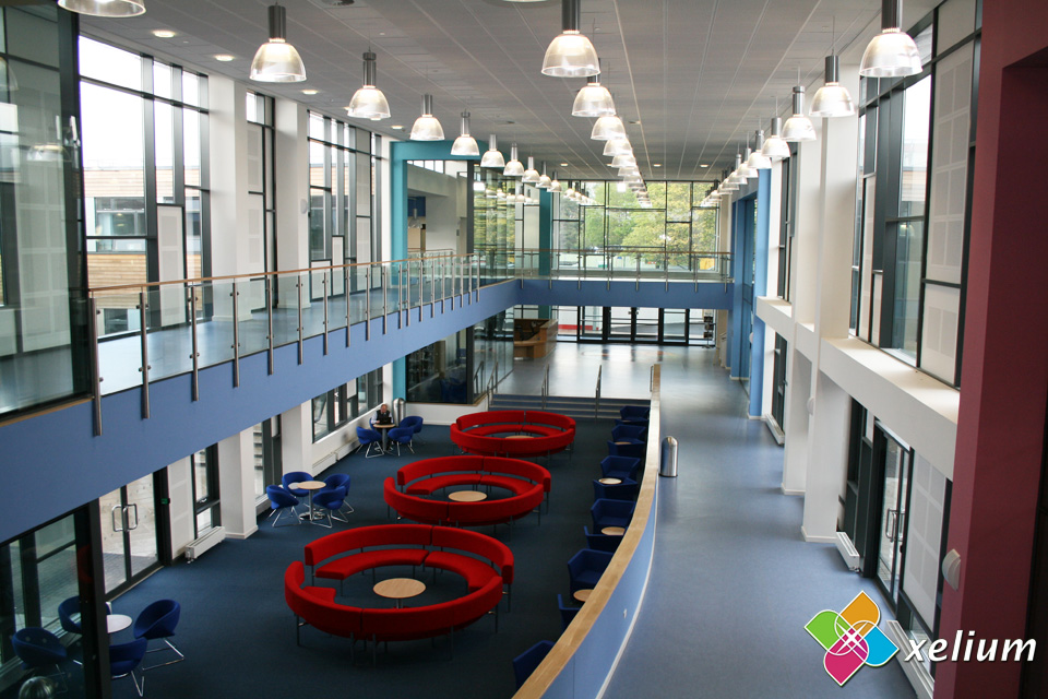 Writhlington School, Radstock Bath - Atrium View