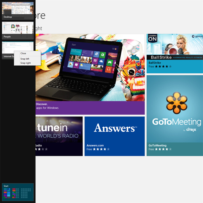 how to close an app in windows 8