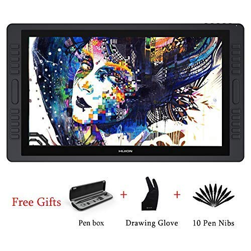 HUION KAMVAS GT-191 V2 HD IPS 8192 Pressure Sensitivity Graphics Monitor with Pencil Without Battery Tablet Anti-glare Glass Screen Graphics with Monitor