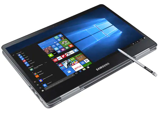 Samsung Notebook 9 Pro 13 tablet mode