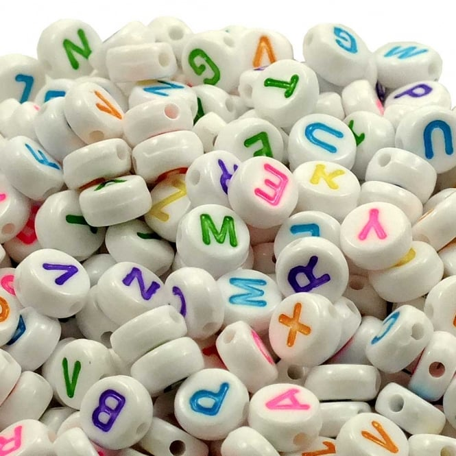 Alphabet Beads for Stringing